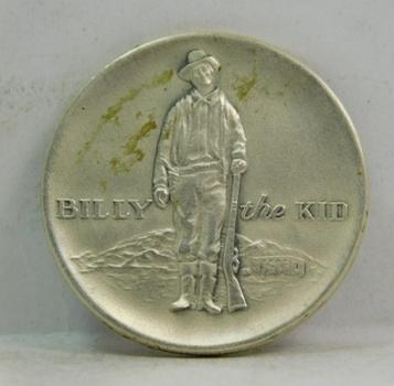 1869-1969 Billy the Kid Lincoln County New Mexico Centennial - .999 Fine Silver Commemorative - 18 Grams