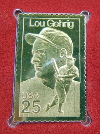 22K Gold Gleaming Surface Proof Replica Stamp - Baseball - American Sports Series - Golden Replicas of United States Stamps - FDC