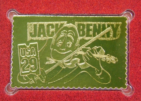 22K Gold Gleaming Surface Proof Replica Stamp - Comedians - Vaudeville - Golden Replicas of United States Stamps - FDC