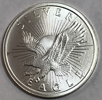 Sunshine Minting Silver Eagle One Half Ounce .999 Fine Silver Round