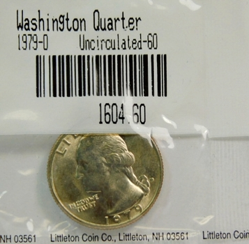 1979-D Washington Quarter - Graded Uncirculated 60 and Packaged by the Littleton Coin Company