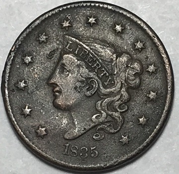 1835 Coronet Head Large Cent - Nice Higher Grade Coin!