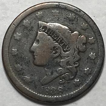 1838 Matron Head Variety Large Cent