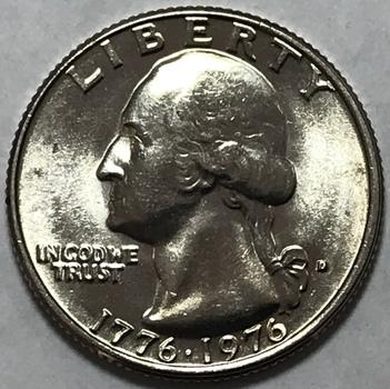 1776-1976D Bicentennial Washington Quarter - High Grade UIncirculated Denver Mint