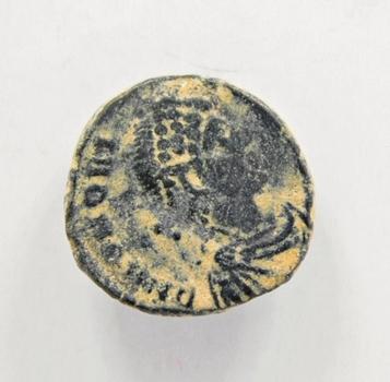 Ancient Bronze Roman Coin Circa 100-400AD