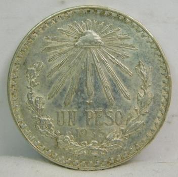 1935 Mexico Silver Peso - High Grade