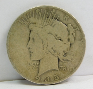 1925-S Peace SILVER Dollar - San Francisco Minted