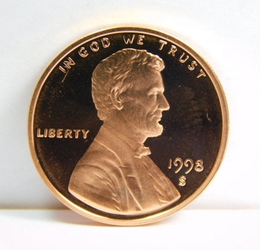 1998-S Proof Lincoln Memorial Cent - Excellent Detail and DCAM - San Francisco Minted