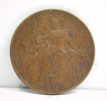 1915 France 10 Centimes
