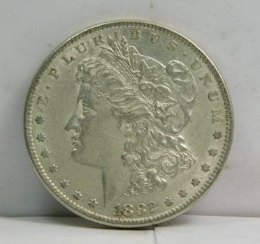 1882 Morgan SILVER Dollar - Nice Detail - Philadelphia MInted