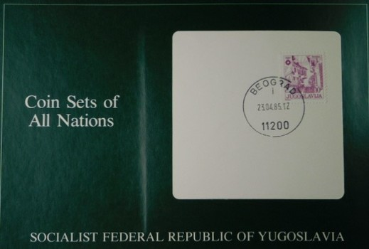 Socialist Federal Republic of Yugoslavia - Coins of All Nations - Sic Uncirculated Coins with Cancelled Stamp