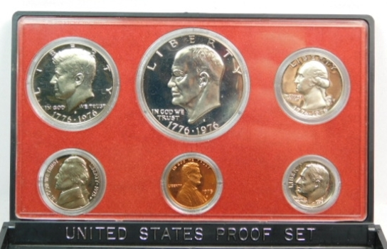 1976 United States Bicentennial Proof Set - No Original Box is Available