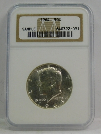 NGC Certified Sample - 1964 Silver Kennedy Half Dollar