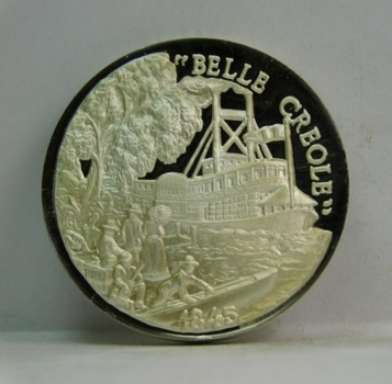 1.25oz .999 Fine Silver Medallion - Featuring the BELLE CREOLE - #RT460