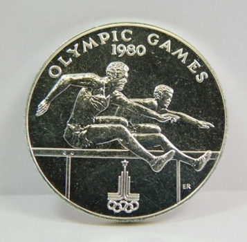 1980 Samoa Tala - Olympic Games - Hurdles Event Commemorative - Low Mintage of Only 5,000!!!
