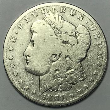 1887-O New Orleans Minted Morgan Silver Dollar