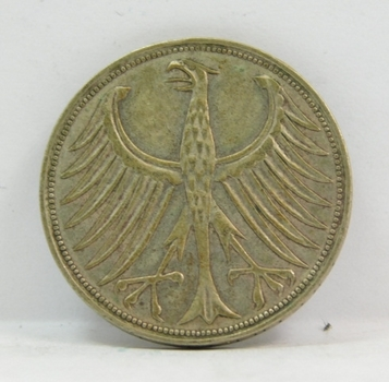 1951D Germany Silver 5 Mark