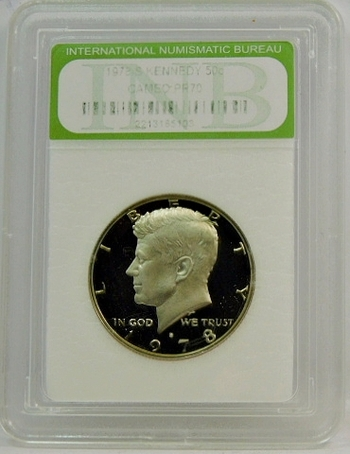 1978-S Proof Kennedy Half Dollar INB Graded Cameo Proof 70-Gem Perfect, Highest Grade Possible!