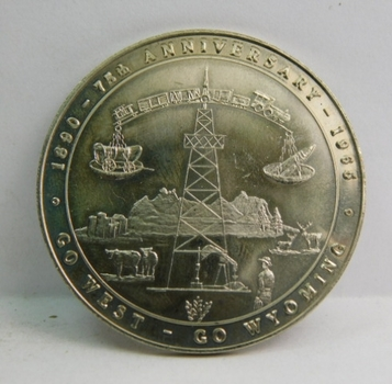 1965 State of Wyoming 75th Anniversary Commemorative Coin/Medal