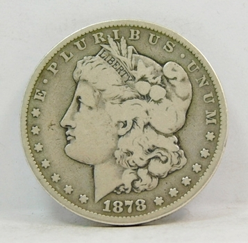 SCARCE DATE - 1878-CC Morgan Silver Dollar - Carson City Minted!!