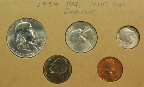 1959 Denver Silver Mint Set in the Original Holder