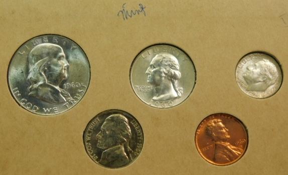 1960 Denver Silver Mint Set in Original Holder