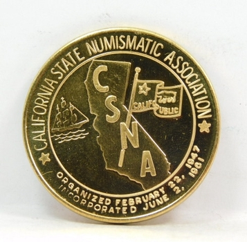 California State Numismatic Association Commemorative Medal/Coin - 1993 - LAX - Bronze