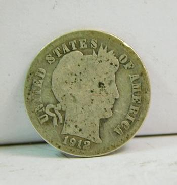 1912-D Silver Barber Dime