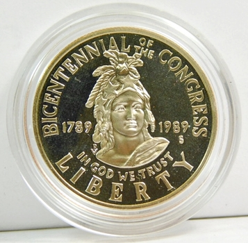 1989-S Proof Congress Centennial Half Dollar - In Original Mint Capsule