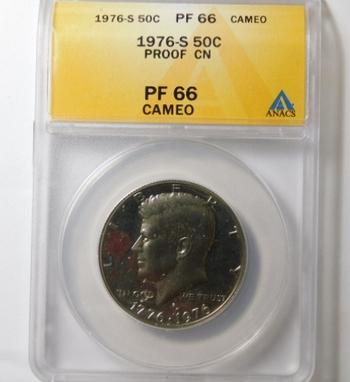 HIGH GRADE!! - 1976-S Proof Bicentennial Kennedy Half Dollar - Graded PR66 CAMEO by ANACS