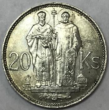 1941 Slovakia Silver 20 Korun - High Grade