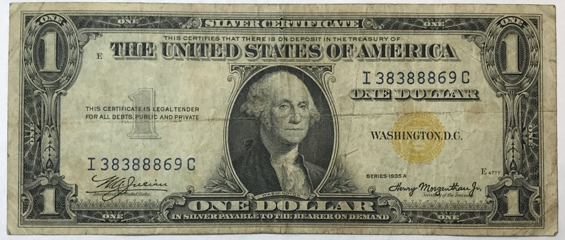 1935A $1 North Africa Silver Certificate - World War II Emergency Issue Note