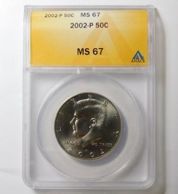 HIGH GRADE!! - 2002-P Kennedy Half Dollar - Graded MS67 by ANACS