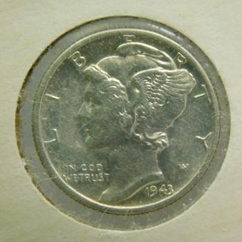 1943-D Silver Mercury Head Dime - Brilliant Uncirculated - Denver Minted