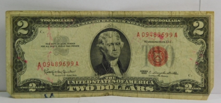 Series 1963 $2 Red Seal United States Note - Crisp Paper