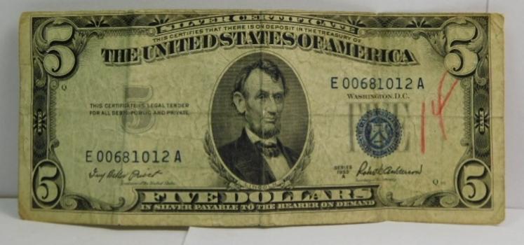 Series 1953A $5 Silver Certificate