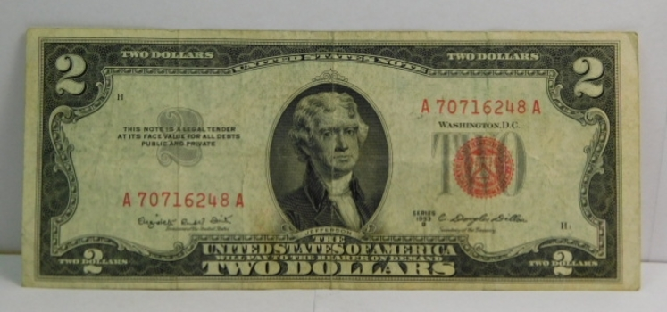 Series 1953B $2 Red Seal United States Note - Crisp Paper