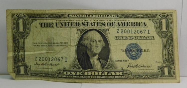 Series 1935F Circulated $1 Silver Certificate