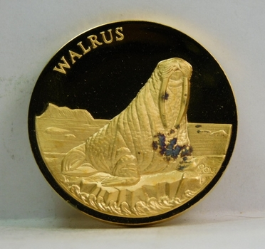 Proof 24K Gold over 1.25 oz Sterling Longines Symphonette Medallion - WALRUS - #F331