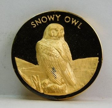 Proof 24K Gold over 1.25 oz Sterling Longines Symphonette Medallion - SNOWY OWL - #F331