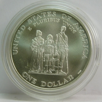 1998-S Black Revolutionary War Patriots Commemorative Uncirculated Silver Dollar