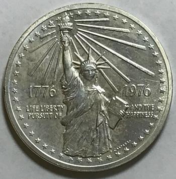 1776-1976 Statue of Liberty American Revolution Commemorative Coin