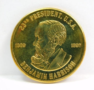 Benjamin Harrison - 23rd President of the United States - Commemorative Coin/Medal