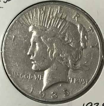 1935-S Silver Peace Dollar - Scarce Date - San Francisco Minted