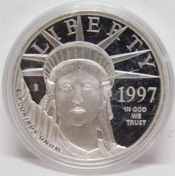 1997 $100 .9995 Platinum Layered Coin