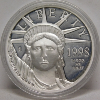 1998 $100 .9995 Platinum Layered Coin