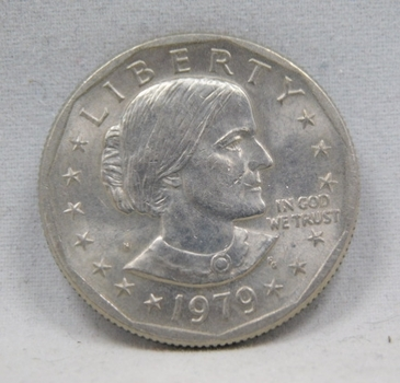 1979-S Colorized Susan B. Anthony Commemorative Dollar - First Year of Issue - San Francisco Minted