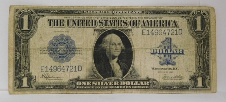 1923 $1 Large Size Saddle Blanket Silver Certificate