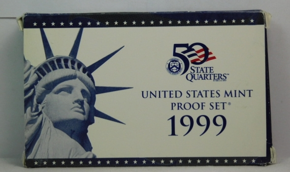 1999 United States Mint Proof Set - Complete with 1999 Quarters in Original Box