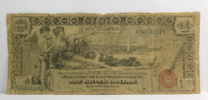 1896 $1 Educational Large Size Silver Certificate